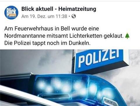 Es heißt wohl eher: Die Polizei tappt jetzt im Dunkeln. - Dank an Nico Braunschädel.