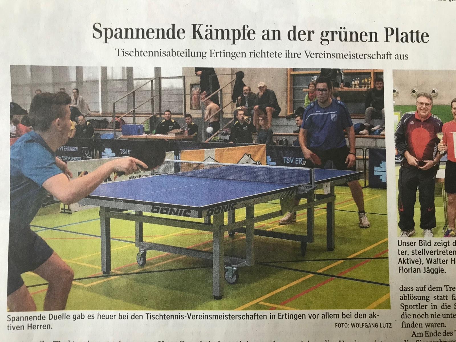 """Da schreibt der Sportredakteur seit Jahrzehnten """"grüne Platte"""", um nicht """"Tischtennisplatte"""" schreiben zu müssen. Und dann das... - Dank an Fabian Hörmann."""